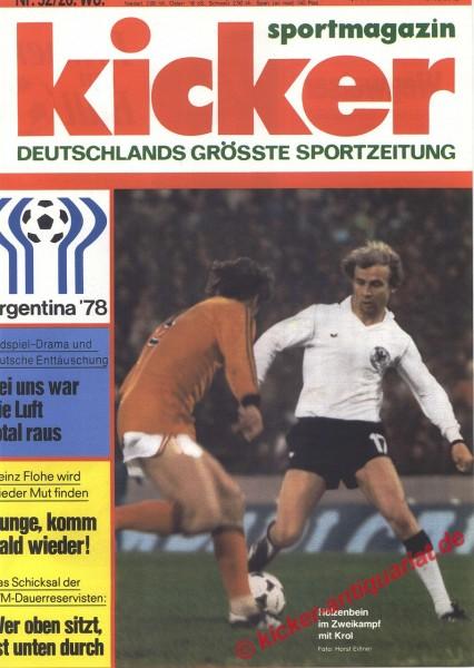 Kicker Sportmagazin Nr. 52, 26.6.1978 bis 2.7.1978
