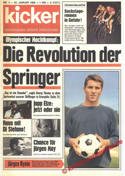 Kicker Sportmagazin Nr. 4, 22.1.1968 bis 28.1.1968