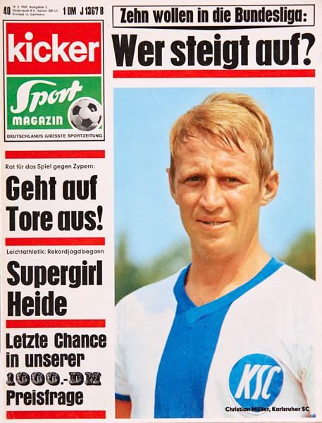 Kicker Sportmagazin Nr. 40, 19.5.1969 bis 25.5.1969