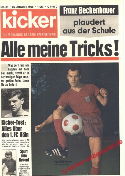Kicker Sportmagazin Nr. 35, 26.8.1968 bis 1.9.1968