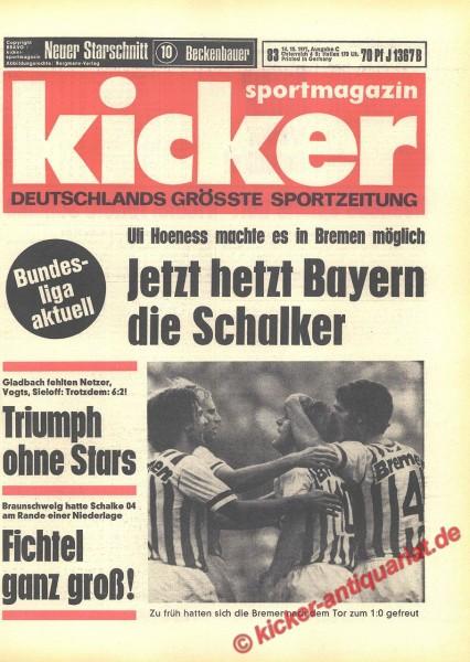 Kicker Sportmagazin Nr. 83, 14.10.1971 bis 20.10.1971