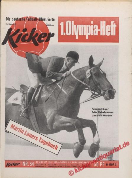 Kicker Nr. 34, 22.8.1960 bis 28.8.1960