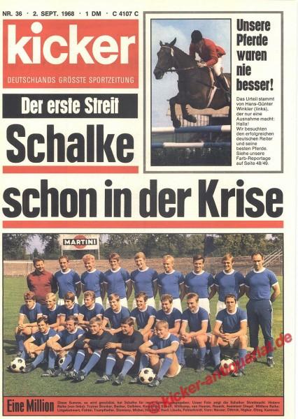 Kicker Sportmagazin Nr. 36, 2.9.1968 bis 8.9.1968