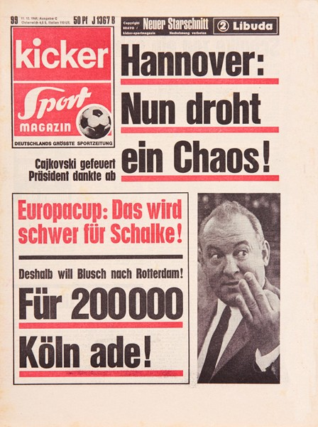 Kicker Sportmagazin Nr. 99, 11.12.1969 bis 17.12.1969