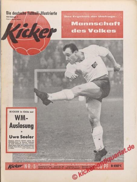 Kicker Nr. 3, 15.1.1962 bis 21.1.1962