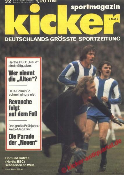 Kicker Sportmagazin Nr. 32, 16.4.1973 bis 22.4.1973