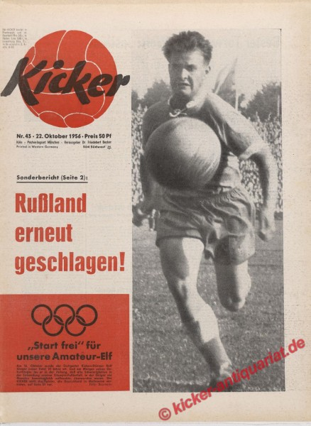 Kicker Nr. 43, 22.10.1956 bis 28.10.1956