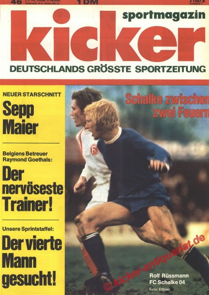 Kicker Sportmagazin Nr. 46, 5.6.1972 bis 11.6.1972