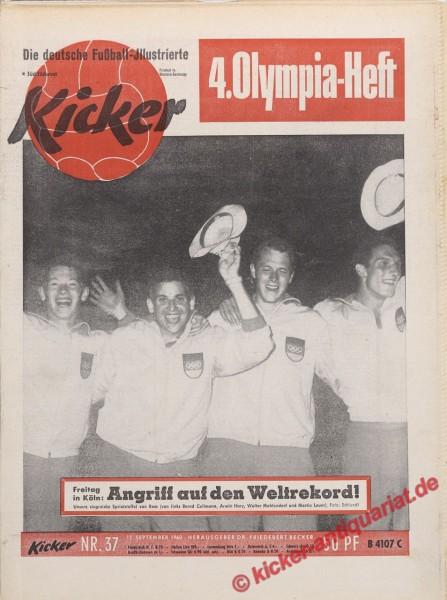 Kicker Nr. 37, 12.9.1960 bis 18.9.1960