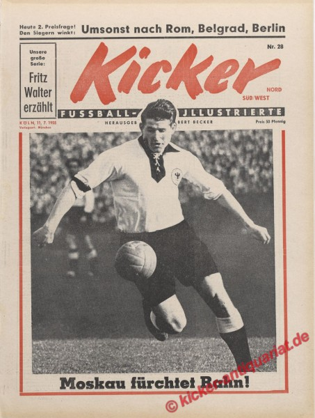 Kicker Nr. 28, 11.7.1955 bis 17.7.1955