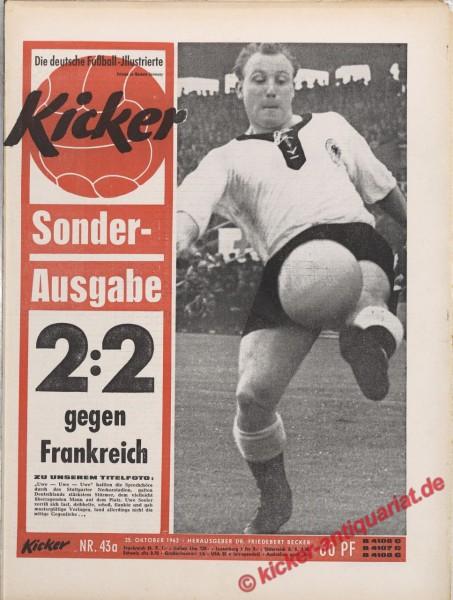Kicker Nr. 43A, 25.10.1962 bis 31.10.1962