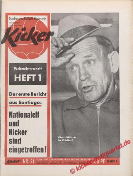 Kicker Nr. 21, 21.5.1962 bis 27.5.1962
