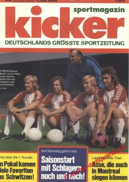 Kicker Sportmagazin Nr. 62, 4.8.1975 bis 10.8.1975