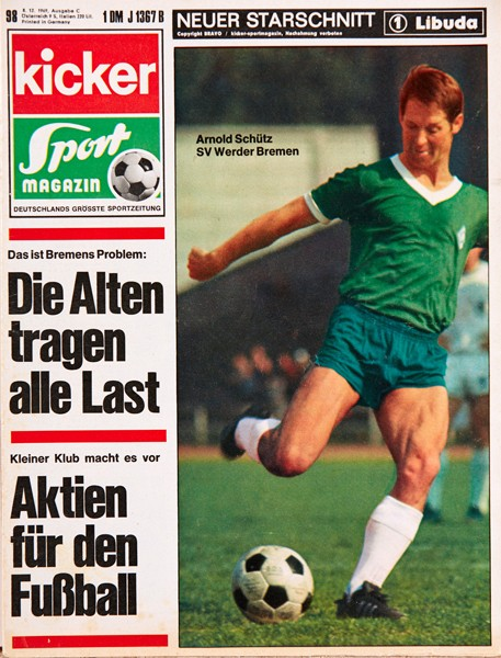 Kicker Sportmagazin Nr. 98, 8.12.1969 bis 14.12.1969