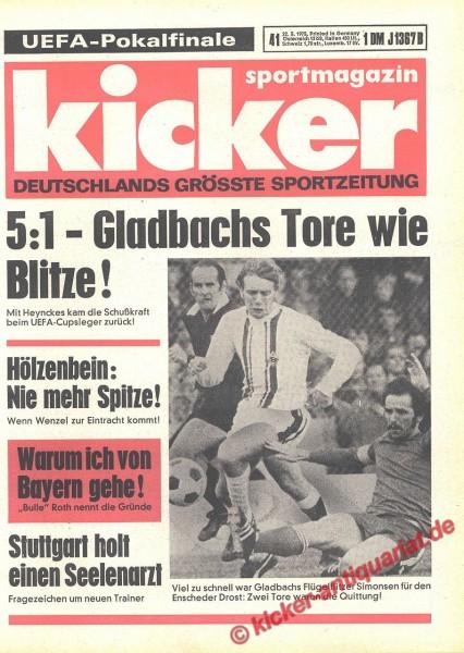 Kicker Sportmagazin Nr. 41, 22.5.1975 bis 28.5.1975