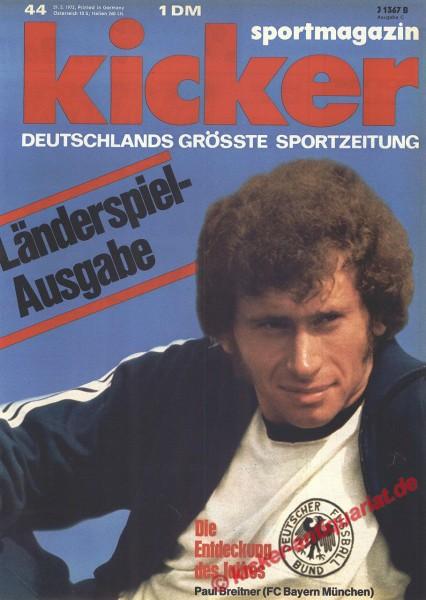 Kicker Sportmagazin Nr. 44, 29.5.1972 bis 4.6.1972