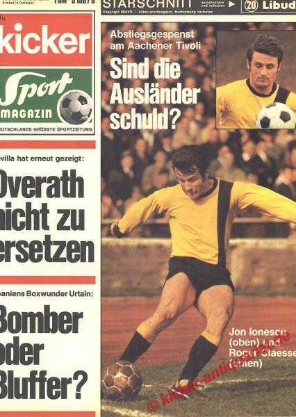 Kicker Sportmagazin Nr. 14, 16.2.1970 bis 22.2.1970
