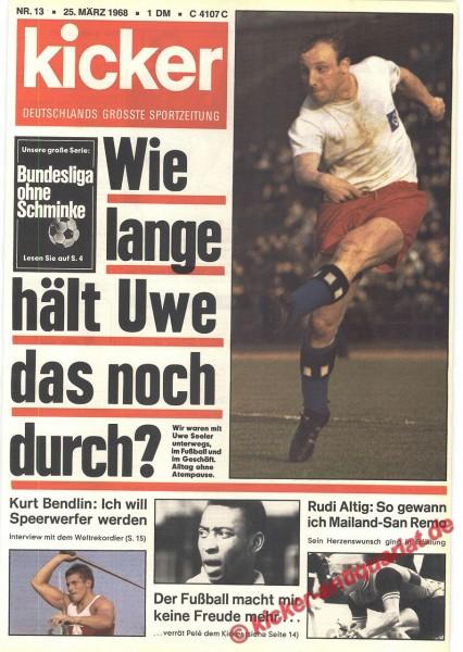 Kicker Sportmagazin Nr. 13, 25.3.1968 bis 31.3.1968