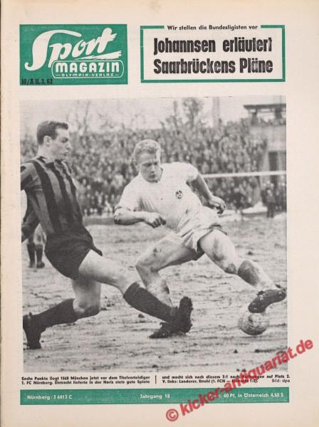 Sportmagazin Nr. 10A, 11.3.1963 bis 17.3.1963