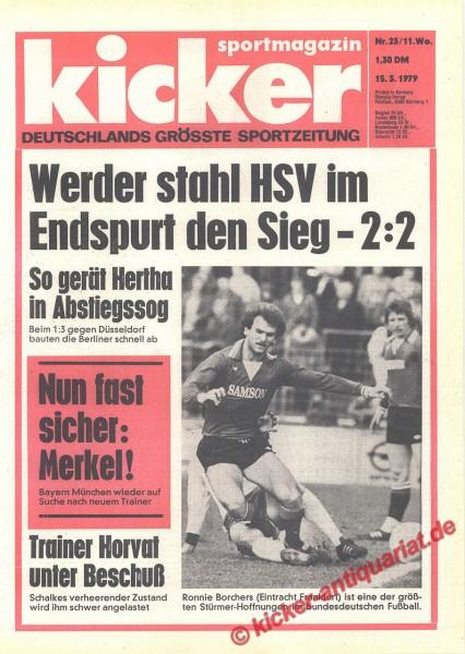 Kicker Sportmagazin Nr. 23, 15.3.1979 bis 21.3.1979