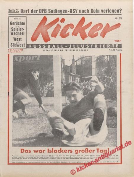 Kicker Nr. 23, 6.6.1955 bis 12.6.1955