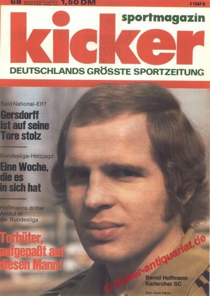 Kicker Sportmagazin Nr. 68, 25.8.1975 bis 31.8.1975