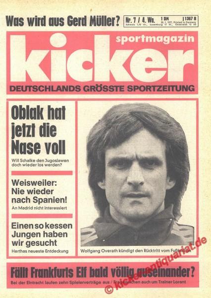 Kicker Sportmagazin Nr. 7, 20.1.1977 bis 26.1.1977