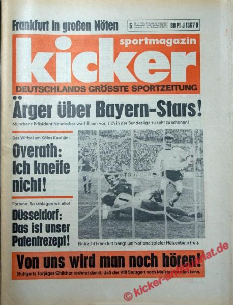 Kicker Sportmagazin Nr. 5, 10.1.1974 bis 16.1.1974