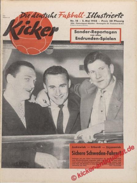 Kicker Nr. 18, 5.5.1958 bis 11.5.1958
