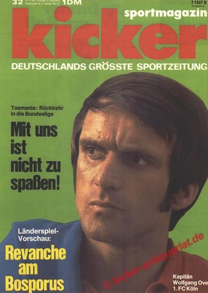 Kicker Sportmagazin Nr. 32, 19.4.1971 bis 25.4.1971