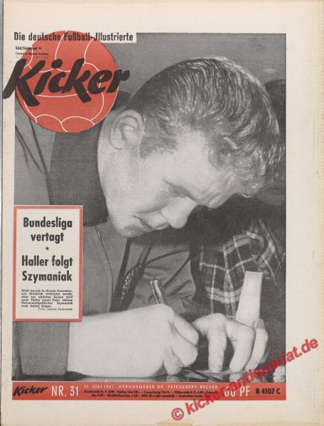 Kicker Nr. 31, 31.7.1961 bis 6.8.1961