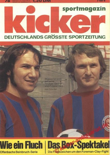 Kicker Sportmagazin Nr. 78, 23.9.1974 bis 29.9.1974