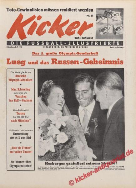 Kicker Nr. 27, 7.7.1952 bis 13.7.1952