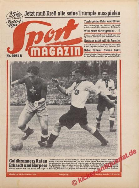 Sportmagazin Nr. 50B, 16.12.1954 bis 22.12.1954