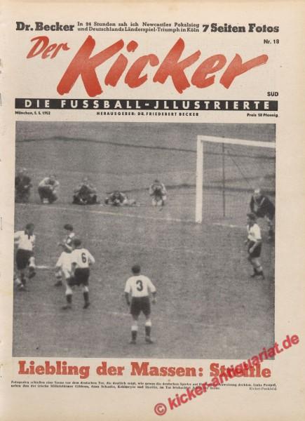 Kicker Nr. 18, 5.5.1952 bis 11.5.1952