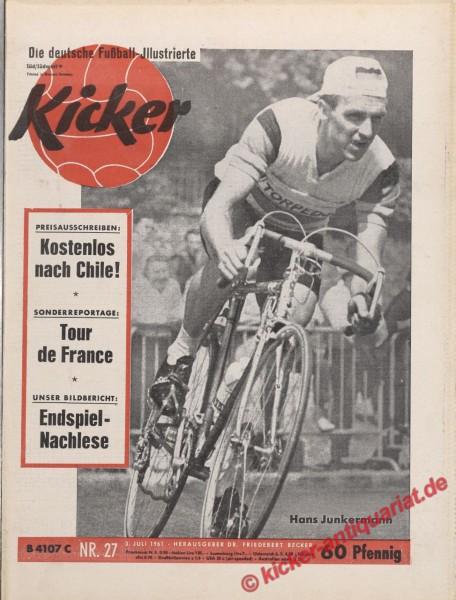 Kicker Nr. 27, 3.7.1961 bis 9.7.1961