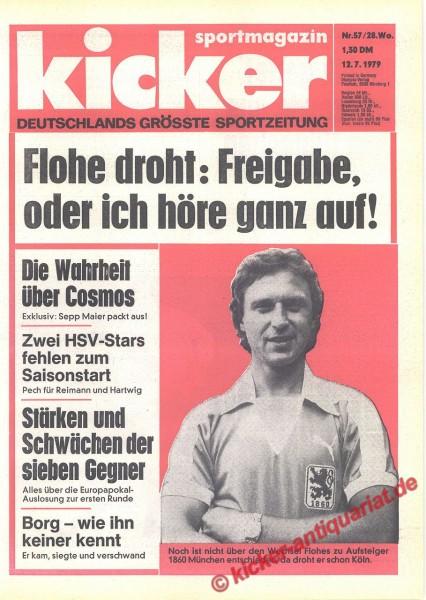 Kicker Sportmagazin Nr. 57, 12.7.1979 bis 18.7.1979