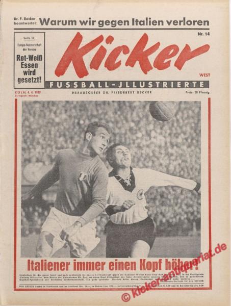 Kicker Nr. 14, 4.4.1955 bis 10.4.1955