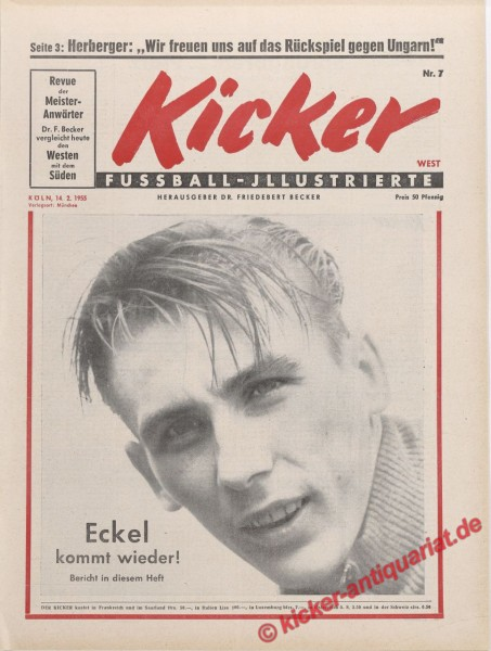 Kicker Nr. 7, 14.2.1955 bis 20.2.1955