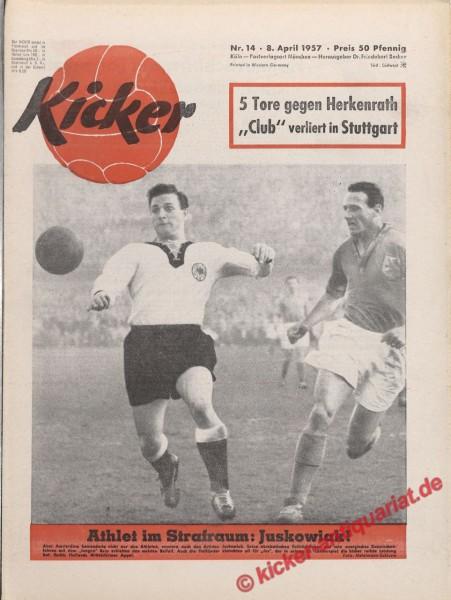 Kicker Nr. 14, 8.4.1957 bis 14.4.1957