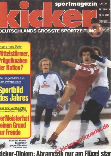 Kicker Sportmagazin Nr. 22, 12.3.1979 bis 18.3.1979