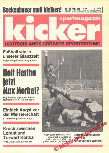 Kicker Sportmagazin Nr. 31, 14.4.1977 bis 20.4.1977