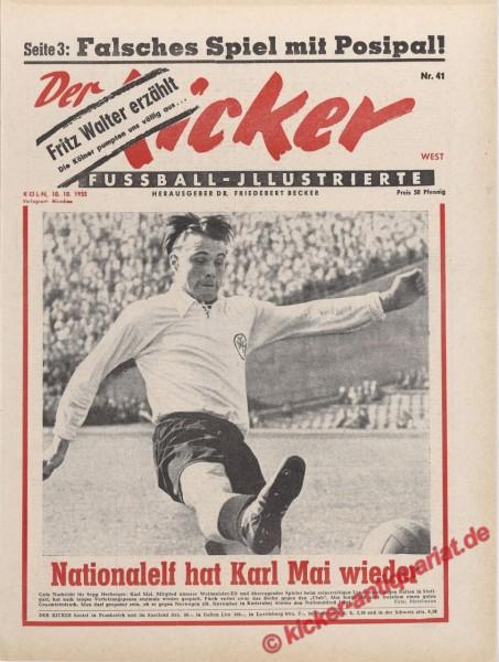 Kicker Nr. 41, 10.10.1955 bis 16.10.1955