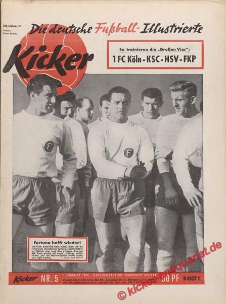 Kicker Nr. 5, 1.2.1960 bis 7.2.1960