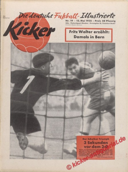Kicker Nr. 19, 12.5.1958 bis 18.5.1958