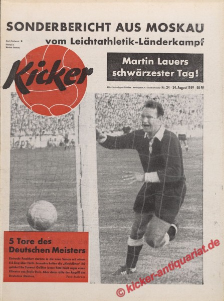 Kicker Nr. 34, 24.8.1959 bis 30.8.1959