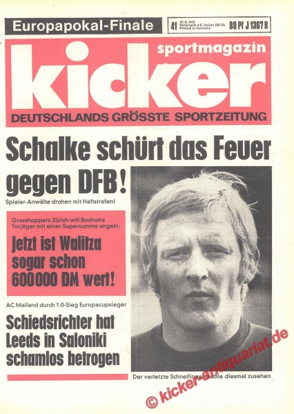 Kicker Sportmagazin Nr. 41, 17.5.1973 bis 23.5.1973