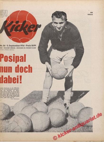 Kicker Nr. 36, 3.9.1956 bis 9.9.1956
