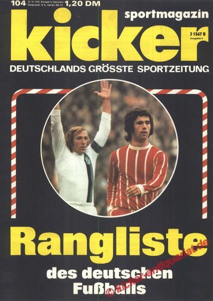 Kicker Sportmagazin Nr. 104, 27.12.1972 bis 2.1.1973