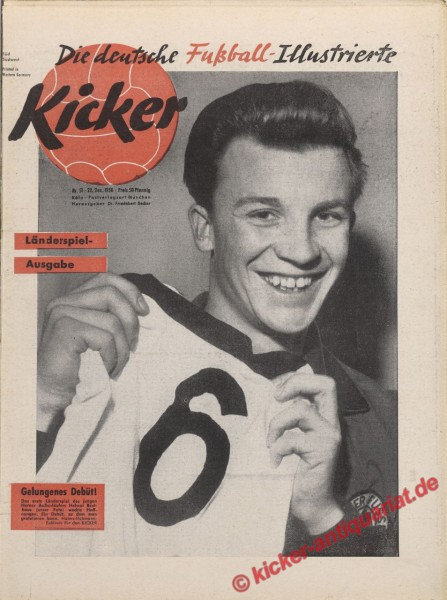 Kicker Nr. 51, 22.12.1958 bis 28.12.1958